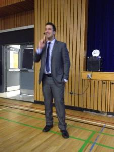 George Couros - superb keynote speaker. Photo Courtesy Salima