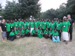 Working with a group 30 Ugandan teacher.