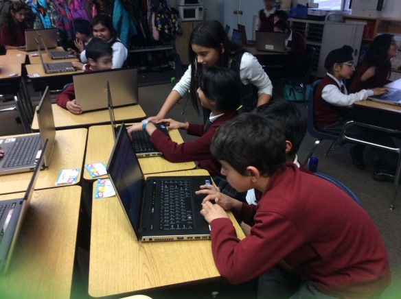 Helping each other out during the #HourOfCode