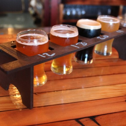 Flight of Only BC Beers